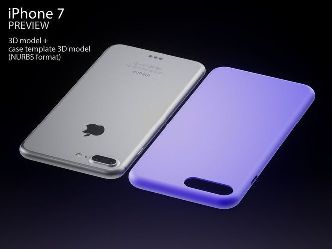 Apple iPhone 7 and 7 PRO with case templates