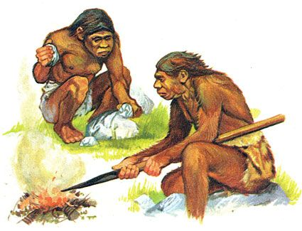 prehistoric people hunting and gathering food | Cave ...  prehistoric peo...