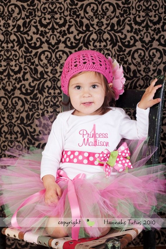 "PRINCESS PARTY DRESS FOR 1ST BIRTHDAY | READY2SHIP Sweet Birthday Princess Tutu - fits ""most 1-2 yr olds"" 18 ..."
