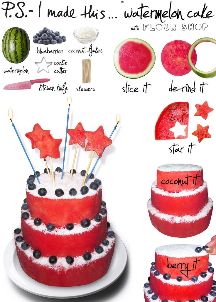P.S.- I made this...Watermelon Cake with @Flour Shop   #DIY #PSIMADETHIS