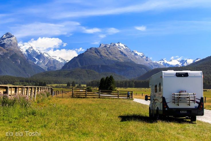 Paradise & our motorhome(rented)  Glenorchy, New Zealand