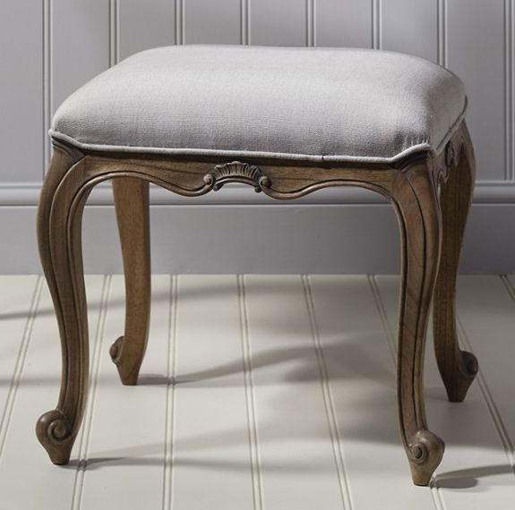 Frank Hudson Chic Weathered Stool Dressing Table With Stool