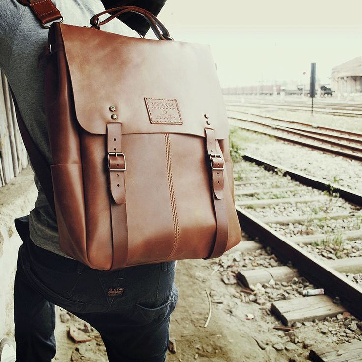 CANDEEIROS BACKPACK - size 2 - Brown Arizona // 100% Portuguese vegetable tanned leather.