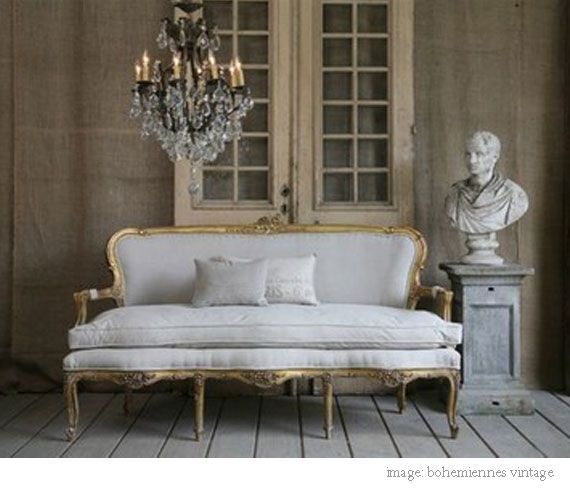 french vintage sofa