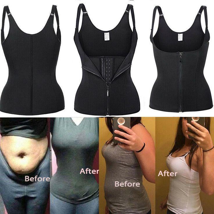 Details about  /Women Waist Trainer Neoprene Body Shaper Slimmer Tummy Control Sauna Sweat Belt