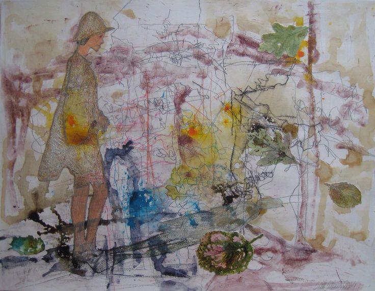 SEIJA SAINIO: October, mixed media, 50 x 65 cm, 2014