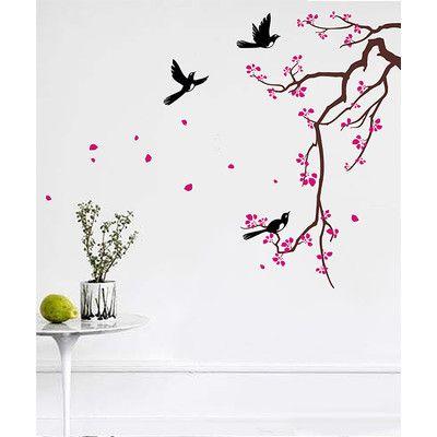 Pop Decors Cherry Blossom Branch Flower Wall Decal | AllModern