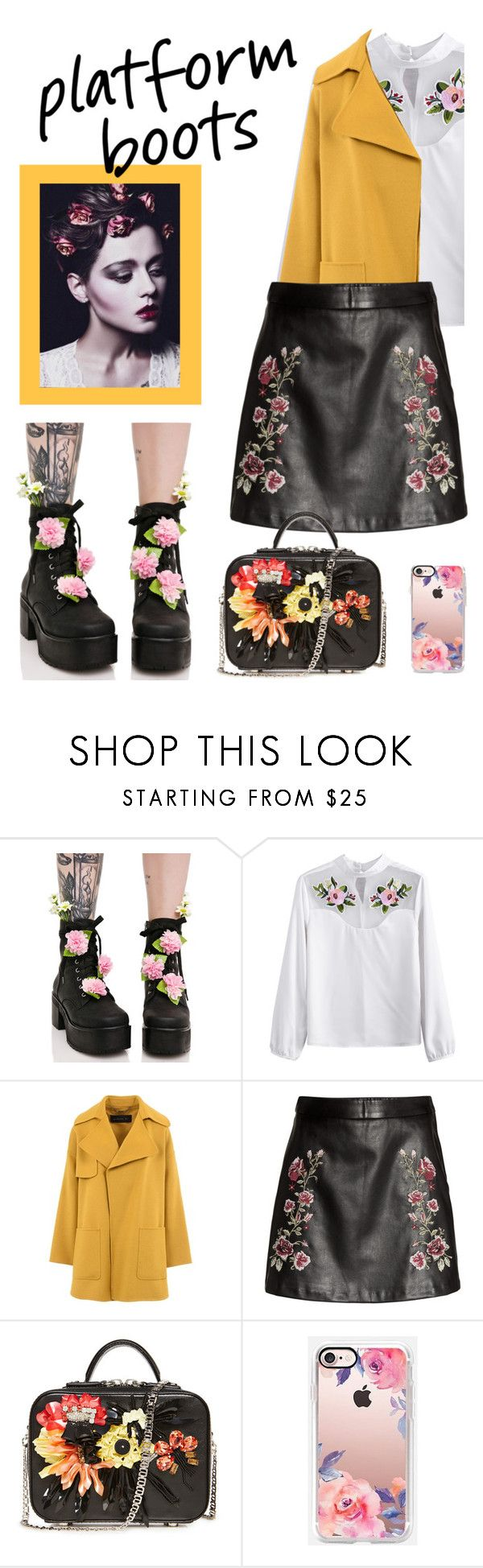 """""""Bloom embroidered"""" by emily-barrett97 ❤ liked on Polyvore featuring Sugarbaby, Barbara Bui and Casetify"""