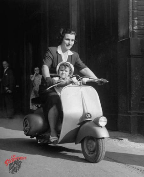 vintage vespas are all the rage among hipsters as is an overall retro fashion look