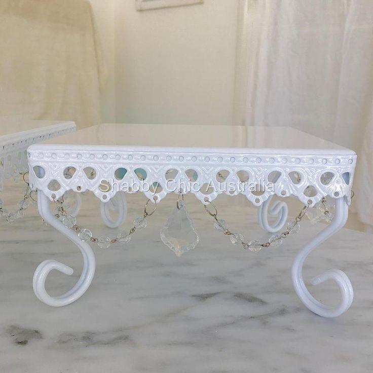 Small White Square Cupcake Wedding Decoraton Cake Christmas Display Stand New