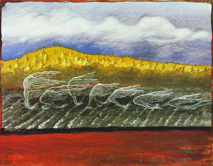 Tuuli puhaltaa by Hugo Simberg