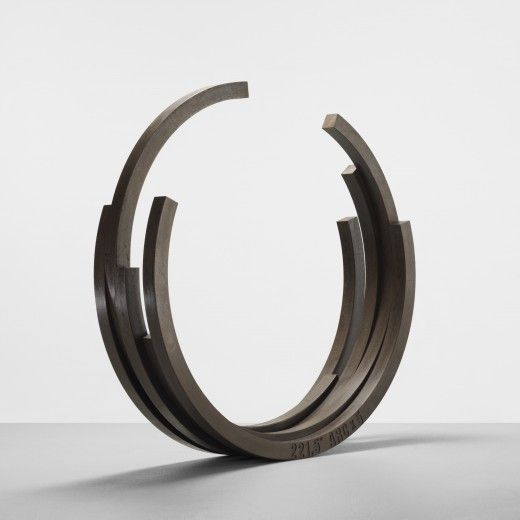 Bernar Venet rolled steel bracelet