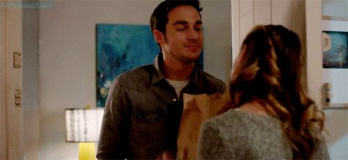 Oh, Mon-El. <3 He brought her potstickers! Guys who bring you (lots) of your favorite food when you're down are keepers. Just saying, Kara. (gif from captainkaramel on tumblr) |TV Shows||CW||#Supergirl gifs||Season 2||2x15||Exodus||Kara x Mon-El||#Karamel kiss gif||Kara Danvers||Melissa Benoist||Chris Wood||#DCTV|