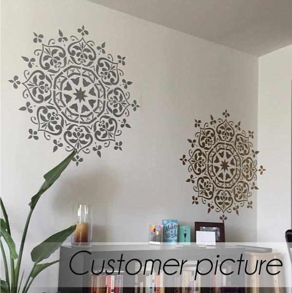 This easy-to-use reusable mandala floral stencil looks marvelous with any style of decor, whether classic, modern, or bohemian. Sturdy material reusable stencil