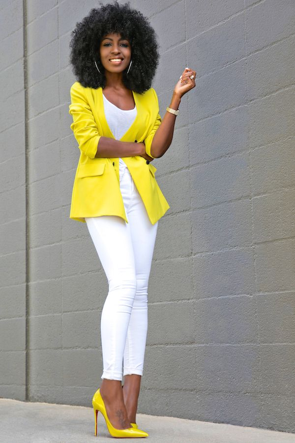 excellent outfit yellow and white red