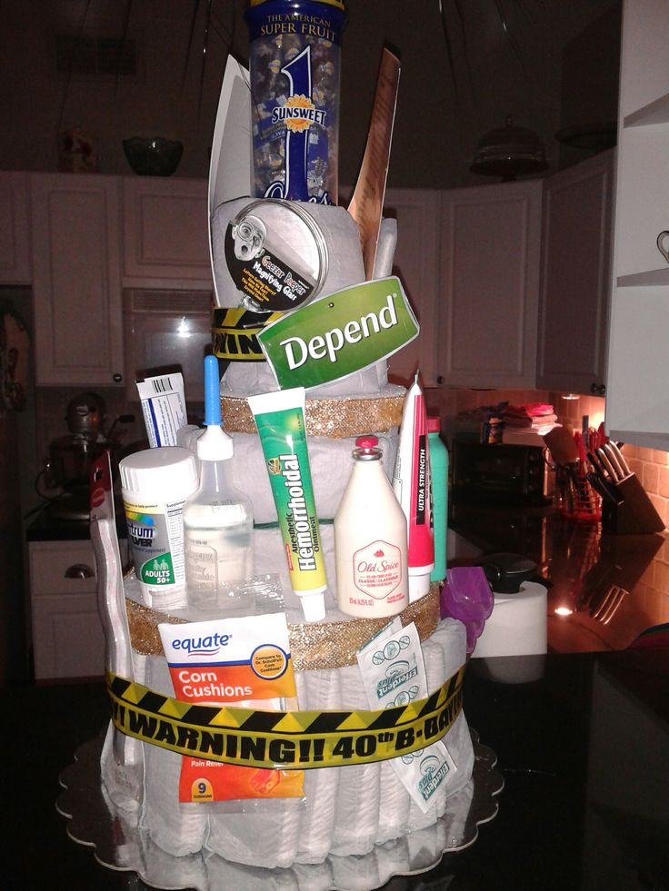 Depends Cake - Gag gift, 40th birthday, but will also work for 50th to 60th!