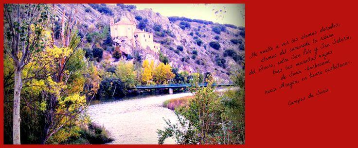 En este enlace http://www.antoniomachadoensoria.com/ descubriréis un recorrido mágico por la senda de los versos del poeta.