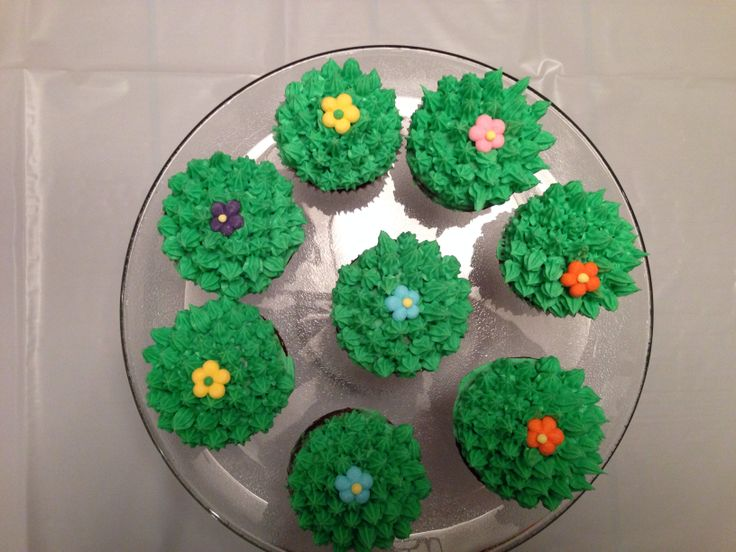Cactus cupcakes for Mexican themed dinner