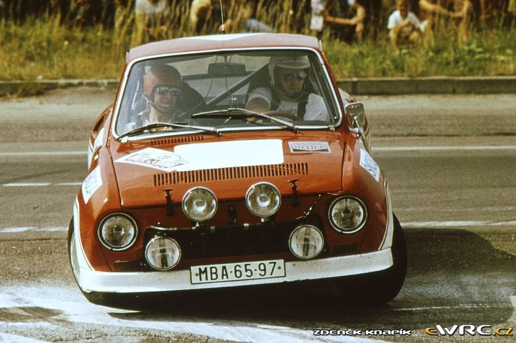 Rallye Škoda 1981 Karel Šimek - Jiří Klíma Škoda 130 RS
