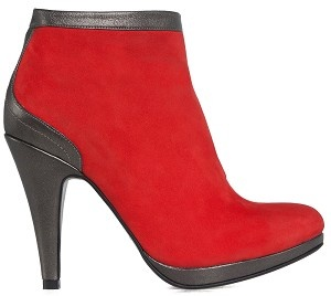 Boot ankle glamour red nubuck bronze