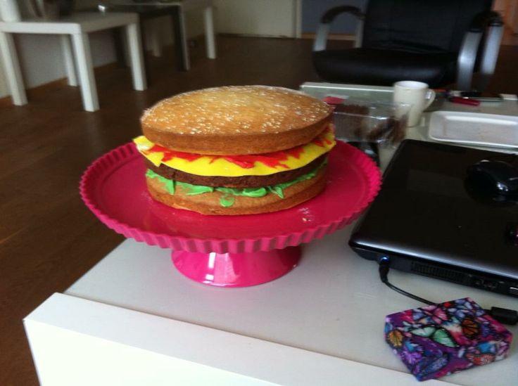 Cheeseburger taart  Zelf gemaakt
