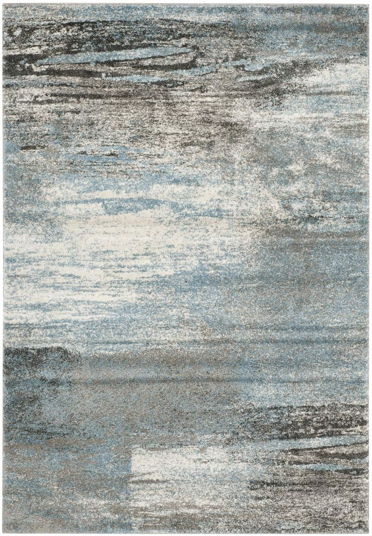 blue area rugs | Safavieh Tahoe TAH479D Grey and Light Blue Area Rug | Bold Rugs