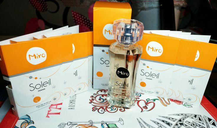 """Anhand dieses Bildes möchte ich euch meinen Anwendung´s --> Verträglichkeit´s-Test-Artikel genauer gesagt ein Parfum der Marke  """"Miro"""" mit Namen """"Soleil"""" vorstellen, das ich über die Plattform """"Kjero""""  im Rahmen eines Produkttest´s erhalten habe!"""