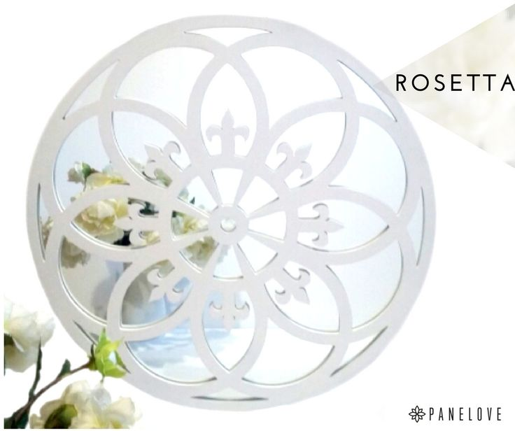 Gothic beauty - Rosetta. White Fretwork mirror, easy to open and clean.