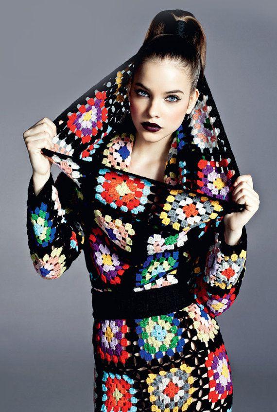 Love this!! granny square dress pattern