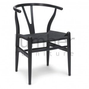 Replica Hans Wegner Wishbone Chair Black