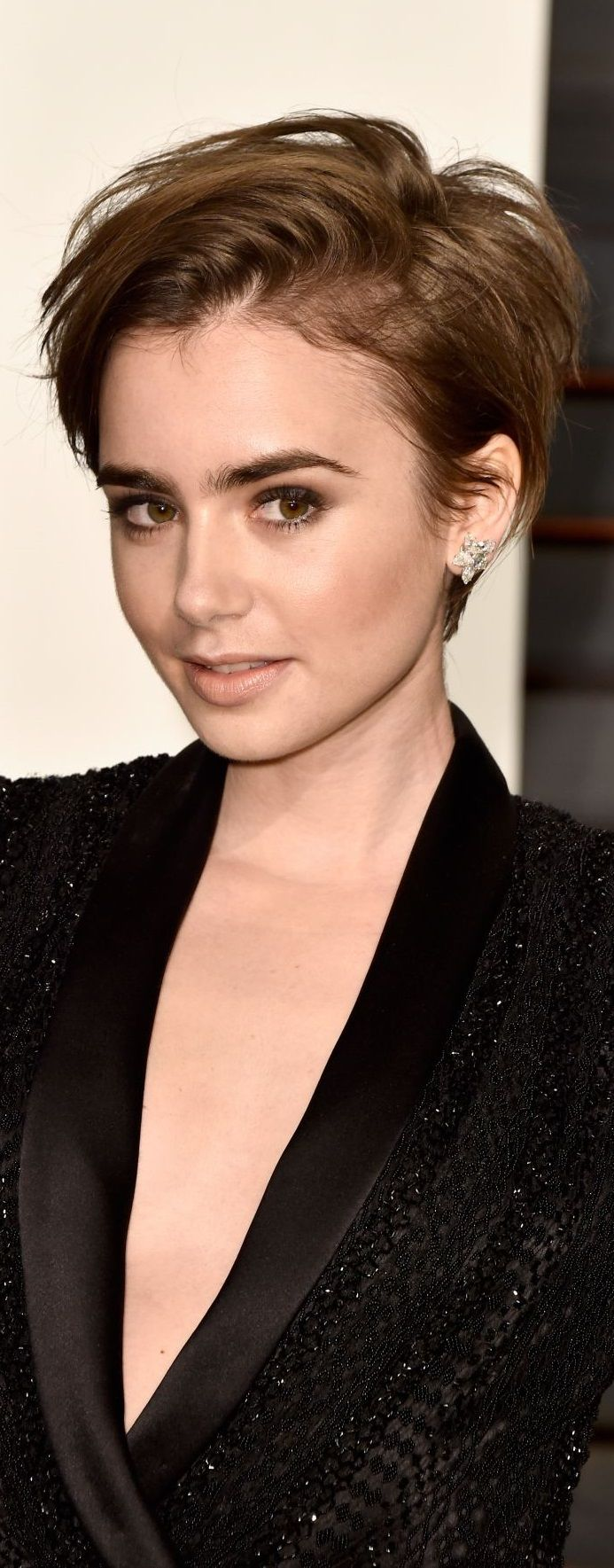 Lily Collins – 2015 Vanity Fair Oscar Party in Hollywood