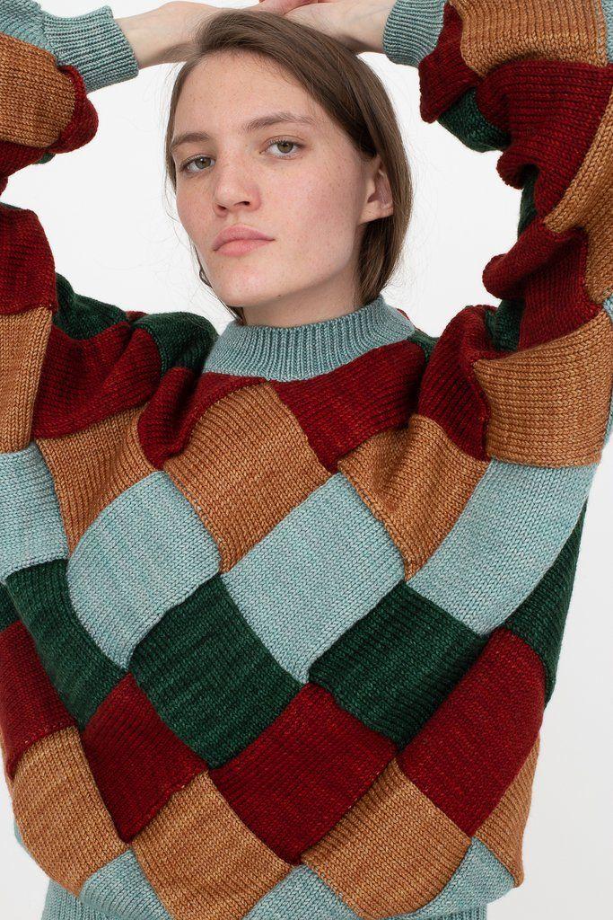 Entrelac sweater | Etsy