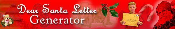Dear Santa Letter Generator @ CHICKENHEAD.COM