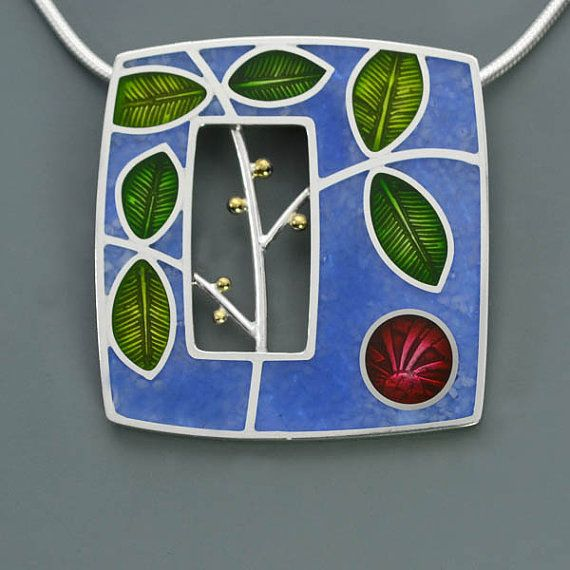 PMC Sterling and Resin Branches Pendant by ivywoodrose (Ivy Solomon )