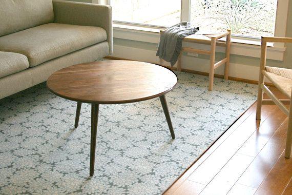 Danish Modern Round Coffee Table Walnut 100 by kapeldesigns, $850.00