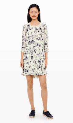 Murilla Silk Print Dress - Club Monaco Day to Night - Club Monaco