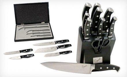 Emeril Cutlery Knife Set – Online Deal  Emeril Cutlery 5-Piece Knife Set in Wooden Box or 11-Piece Forged Knife Set in Storage Block (Up to 52% Off)