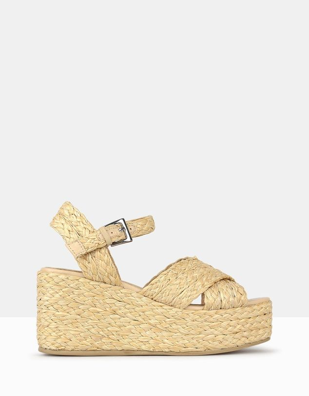 be4550c541a321 Earth Raffia Wedge Sandals