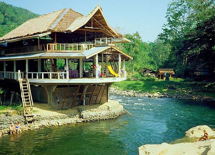 Bukit Lawang – Sumatra – Indonesia  National conservative park for Orang Utan.    I wanna try the slide, hope the river is deep enough.