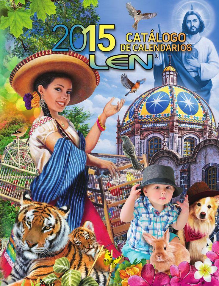 Catálogo de Calendarios Len 2015  Calendarios promocionales. escritorio, pared con varilla, pared en cartulina, bolsillo, lenticular, tarjeta de felicitación, organizador, exfoliador y abanico