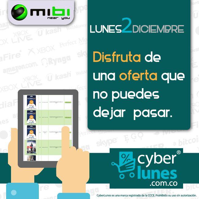 El Cyberlunes será más divertido con los descuentos que mibi tendrá para ti. Prepárate! http://www.mibirecargas.com