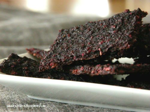 Raw Beet and Sunflower Seed Crackers  (dehydrator or oven method)  www.kateshealthycupboard.com
