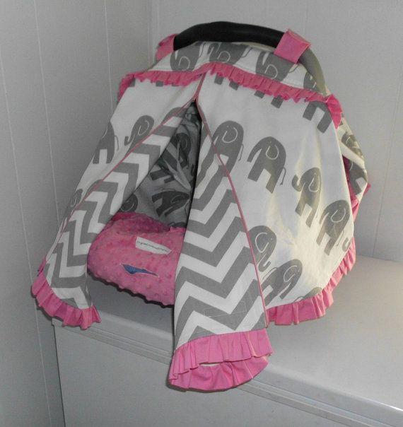 GREY ELEPHANT CHEVRON and Pink Ruffles by SewCuteByCrystal on Etsy  My Mommy favors thishttp://www.travelsystemsprams.com/