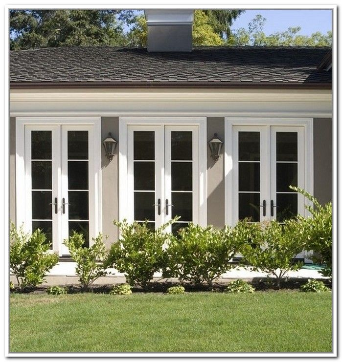 Best 25 double french doors ideas on pinterest exterior for Double wide patio doors