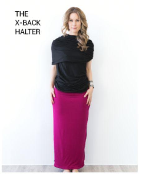 x halter with maxi skirt