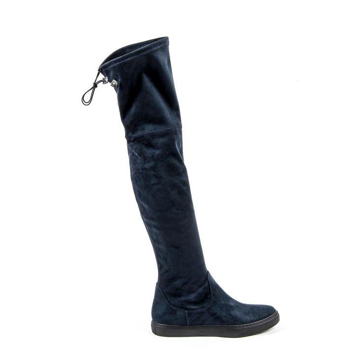 Versace 19.69 Abbigliamento Sportivo Srl Milano Italia Womens High Boot B2472 CAMOSCIO BLU