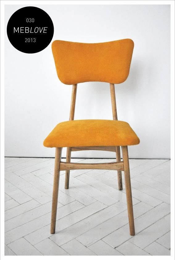 meblove 030    vintage design orange chair