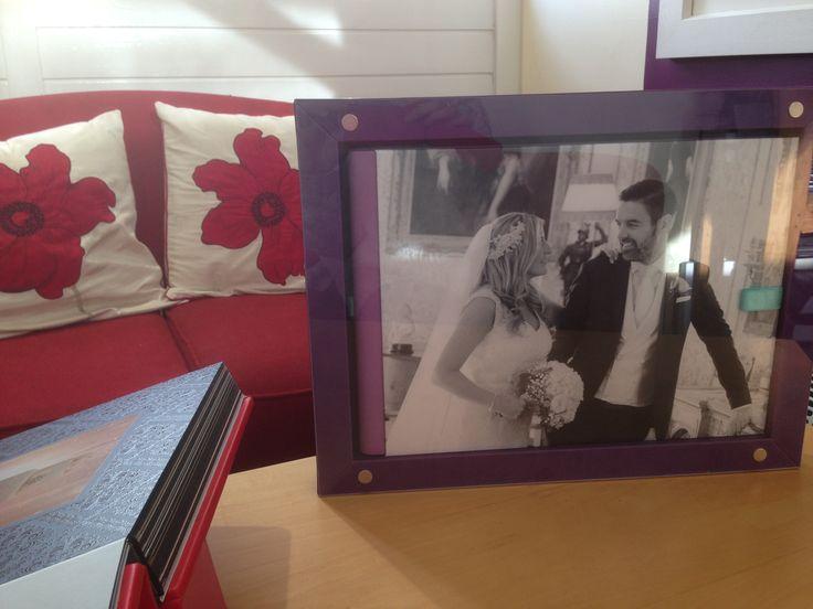Framed album in box