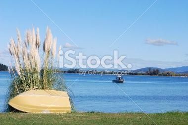 View over Tapu Bay, Kaiteriteri, Tasman, New Zealand Royalty Free Stock Photo
