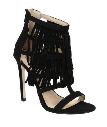 La Strada 906553 zwarte sandalen met hak
